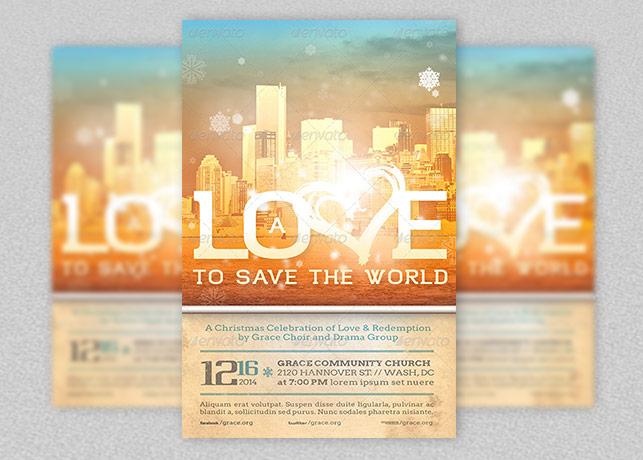 Love To Save Christmas Flyer Template Godserv Market