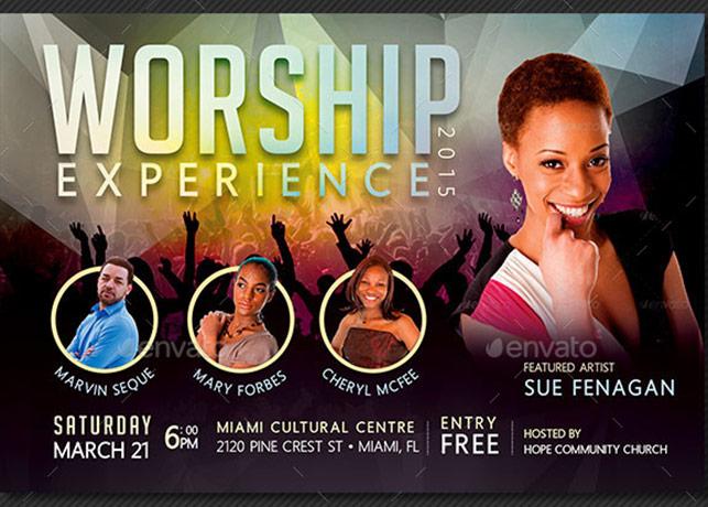 Worship Concert Flyer Template | Godserv Market