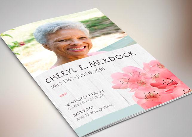 Magnolia Funeral Program - Publisher | Godserv Market