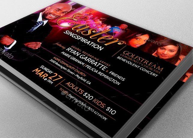 Easter Concert Flyer Template Cantata Musicals Godserv Market