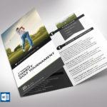 Golf Tournament Brochure Word Template