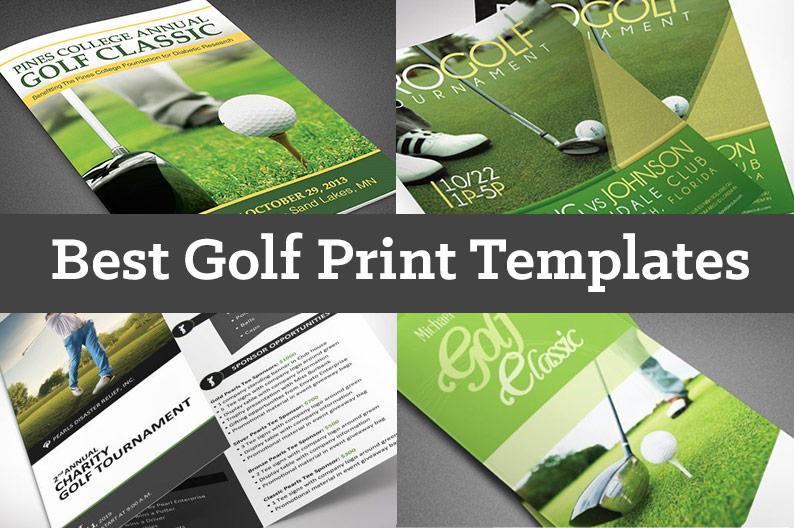 Golf Print Templates