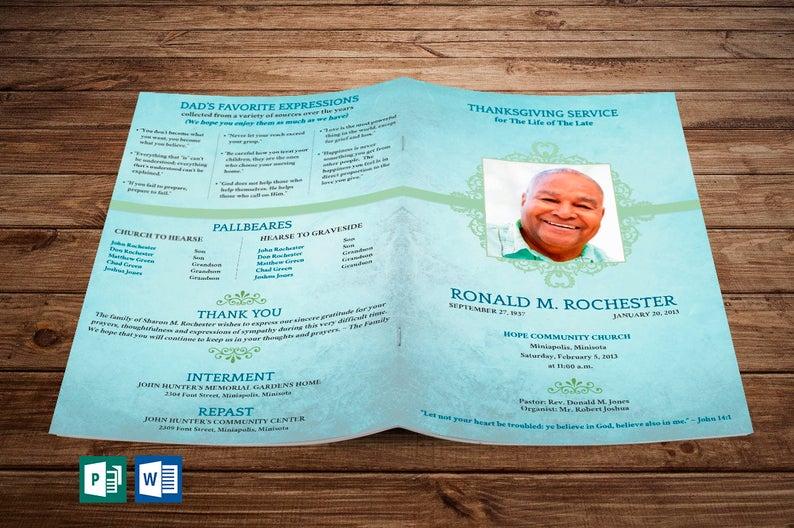 Word Obituary Templates