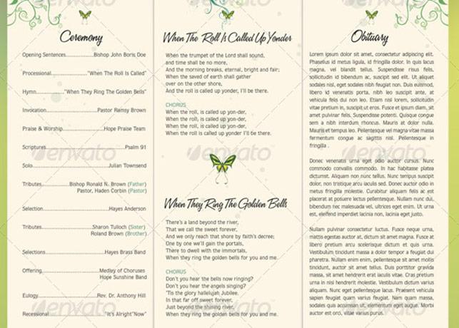 Decorative Tri Fold Funeral Program Template Preview5 Godserv Designs