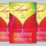 Light of The World Church Flyer Template
