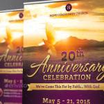 Church Anniversary Banner Template