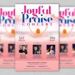 Joyful Praise Concert Flyer and Poster Template