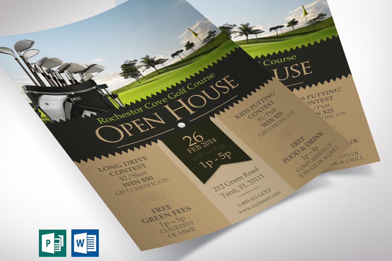 Golf Resort Open House Flyer