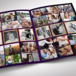 Purple Gold Regal Funeral Program Word Publisher Template
