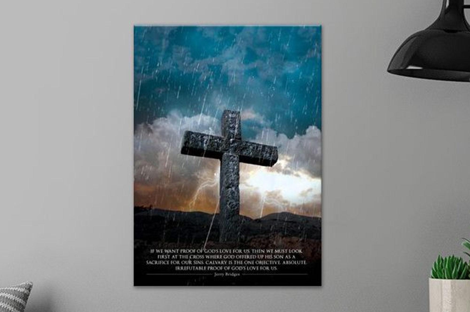 Cross of Love Metal Poster