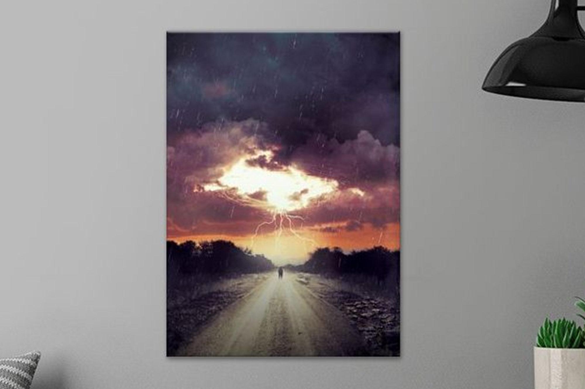 Storm Watching Metal Poster